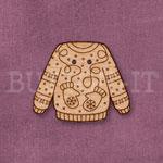 Christmas Jumper Button