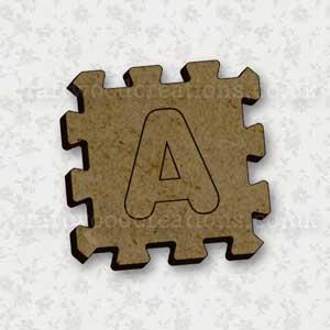 Jigsaw Alphabet Tile A