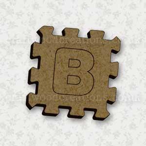 Jigsaw Alphabet Tile B