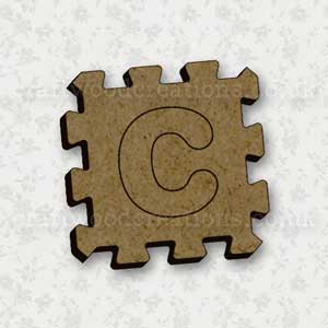 Jigsaw Alphabet Tile C