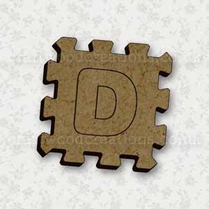 Jigsaw Alphabet Tile D