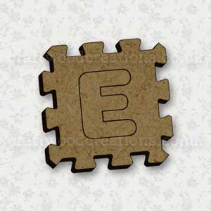 Jigsaw Alphabet Tile E