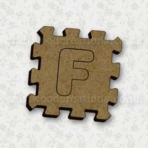 Jigsaw Alphabet Tile F