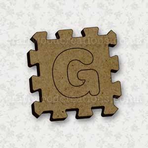 Jigsaw Alphabet Tile G