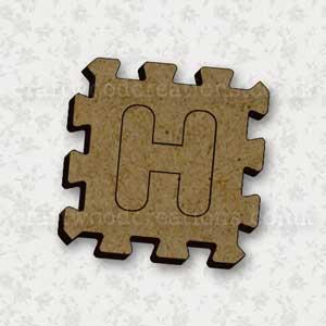 Jigsaw Alphabet Tile H