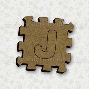 Jigsaw Alphabet Tile J
