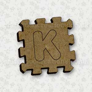 Jigsaw Alphabet Tile K