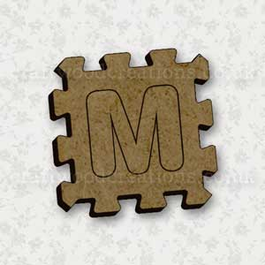 Jigsaw Alphabet Tile M