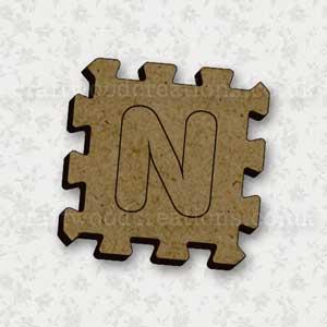Jigsaw Alphabet Tile N