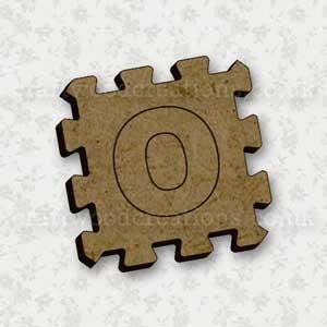 Jigsaw Alphabet Tile O