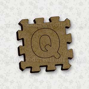 Jigsaw Alphabet Tile Q