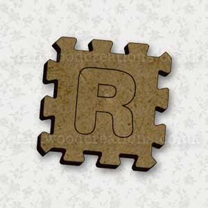 Jigsaw Alphabet Tile R