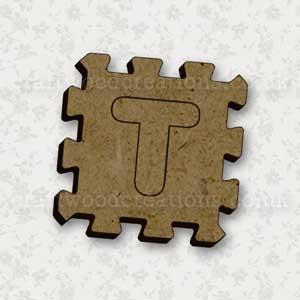 Jigsaw Alphabet Tile T