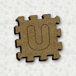 Jigsaw Alphabet Tile U