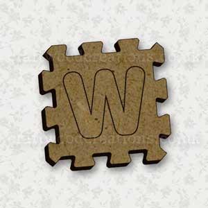 Jigsaw Alphabet Tile W