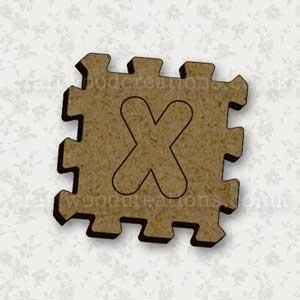 Jigsaw Alphabet Tile X