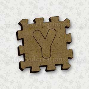 Jigsaw Alphabet Tile Y