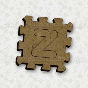 Jigsaw Alphabet Tile Z
