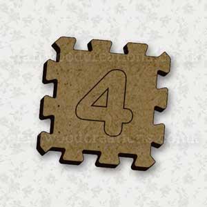 Jigsaw Alphabet Tile 4