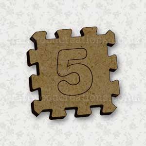 Jigsaw Alphabet Tile 5