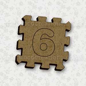 Jigsaw Alphabet Tile 6