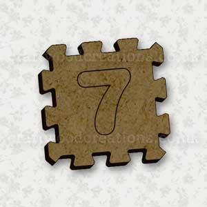 Jigsaw Alphabet Tile 7