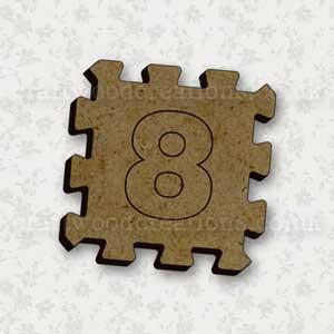 Jigsaw Alphabet Tile 8