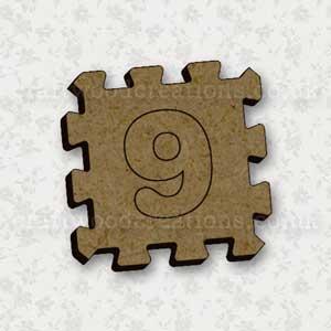 Jigsaw Alphabet Tile 9