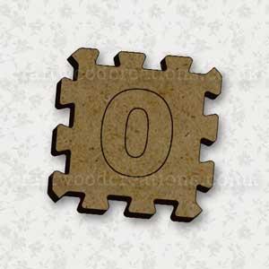 Jigsaw Alphabet Tile 0
